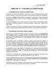 TEORIA GERAL DO ESTADO 07 - O ESTADO e a CONSTITUIÇÃO