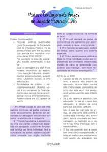 Prática Jurídica IV - Partes e Contagem de Prazos no Juizado Especial Cível