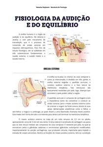 Fisiologia da Audição e do Equilíbrio