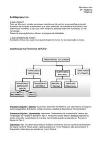 Aula 8 - Farmacologia Antidepressivos