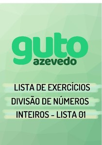 Lista de Exercícios | Divisão de Números Inteiros | Lista 01
