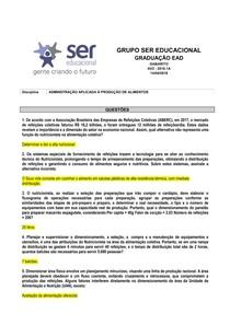 ADMINISTRAÇÃO APLICADA À PRODUÇAÕ DE ALIMENTOS - A - Copia