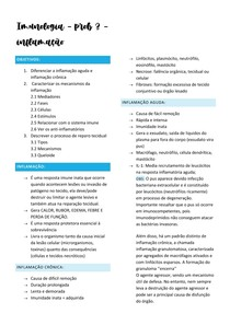 Imunologia - P3 inflamação