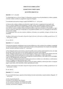 Exercícios comentados Direito das Obrigações - Parte 4