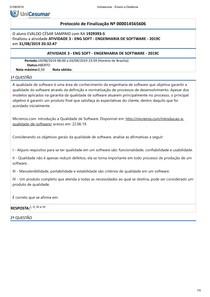 ATIVIDADE 3 - ENG SOFT - ENGENHARIA DE SOFTWARE - 2019C