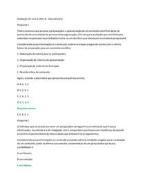 Avaliação On-Line 2 (AOL 2) - Questionário