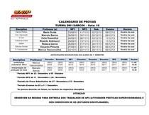 CALENDARIO DE PROVA