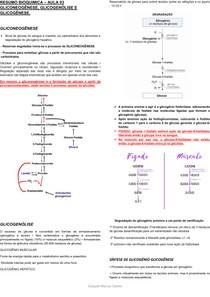 RESUMO BIOQUIMICA GLICONEOGÊNESE, GLICOGENÓLISE E GLICOGÊNESE