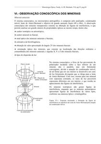 opticat6a - Observação dos Minerais sob Luz Convergente  Parte 1 - Minerais Uniaxiais