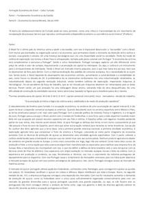 Resumo parte I - Formação Economica do Brasil, Celso Furtado
