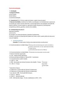 Direito Constitucional I - 1º Bimestre