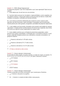 Apol I OSM e Cálculo Aplicado