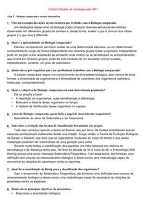 Estudo Dirigido Zoo Ap3 Ciências Biológicas