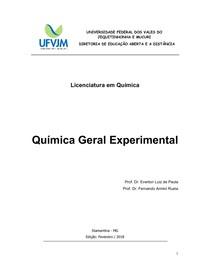 Química Geral Experimental I e II final