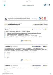 SEMINÁRIOS EM LÍNGUA INGLESA - DISCURSO LITERÁRIO   Aval. aula 1
