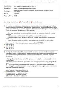 Avaliação final (Objetiva) - Direito Tributário e Empresarial