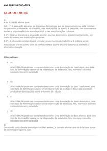 AV2 PRAXIS EDUCATIVA