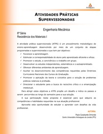 ATPS - Resistencia dos Mat. I