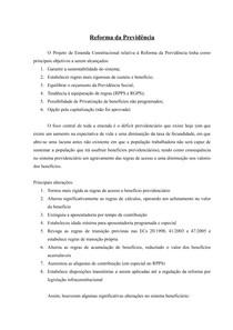 Direito Previdenciário - Reforma da Previdência