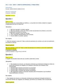 AV 2 Direito Empresarial e Tributário
