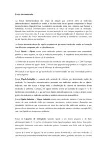 FORÇAS INTERMOLECURALES   PESQUISA