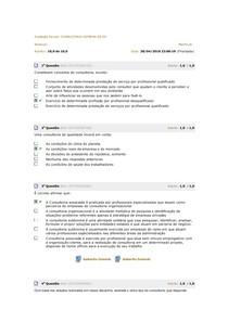 Avaliação Parcial CONSULTORIA INTERNA DE RH
