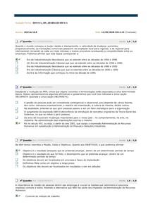 Avaliação Parcial. gestao integrada de rh