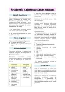 Neonatologia: policitemia neonatal