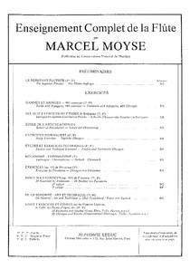 FLAUTA - MÉTODO - Marcel Moyse - De la Sonorité - Art et Technique