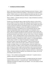Direito do Trabalho - Resumo completo