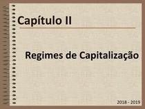 Matemática Financeira Capítulo II.1   Regimes de Capitalização   Regime de Juro Simples UALG ESGHT