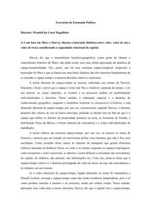 Questões de Economia Política - I) Valor, valor de uso e valor de troca; II) Lucro, trabalho e força de trabalho - Marx e Smith