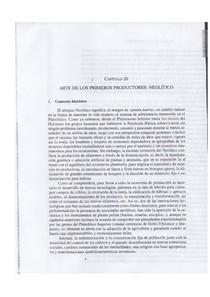 Manual de arte pre-histórica, cap.20, arte de los primeros produtores