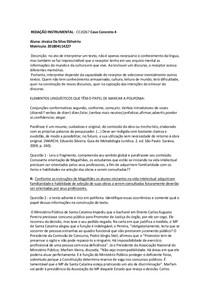 REDAÇÃO INSTRUMENTAL - CASO CONCRETO 4