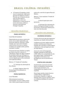 BRASIL COLÔNIA - INVASÕES alice