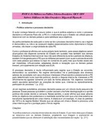 Resumo: GONÇALVES, Williams e MIYAMOTO, Shiguenoli. Os militares na política externa brasileira.