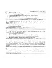 Exercícios resolvidos de Combustão-Química geral
