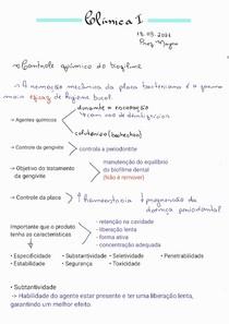 Controle químico do biofilme