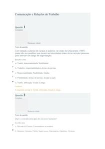 Comunicação e Relações do Trabalho exercicio 1