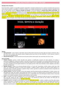 Gestação, Parto, Puerpério e Fisiologia fetal