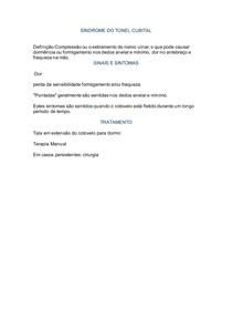 SÍNDROME DO TÚNEL CUBITAL
