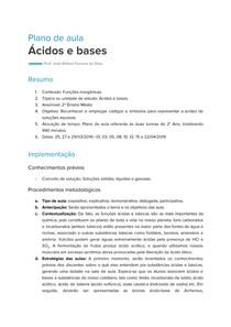 Plano de Aula - Ácidos e Bases