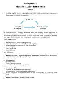 Mecanismos Gerais da Hemostasia - PatG