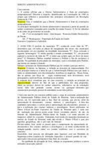 Direito Administrativo Casos concretos de 1 a 8