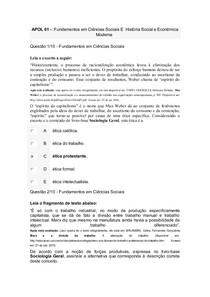 APOL 01 fundamentos em ciencias sociais