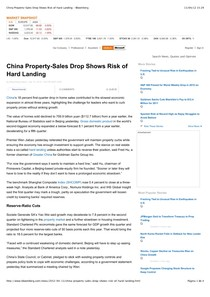 2012.04.13 - China Property-Sales Drop Shows Risk of Hard Landing - Bloomberg