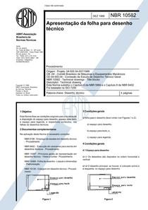 NBR 10582 - Apresentacao da Folha Para Desenho Tecnico