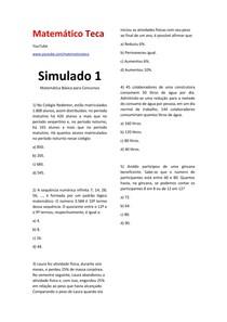 Matemática para Concursos SIMULADO 1 #EXCLUSIVOPD