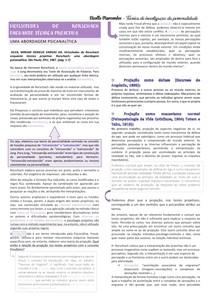 Resumo TÉCNICA DE INVESTIGAÇÃO DA PERSONALIDADE 4°/5º SEMESTRE