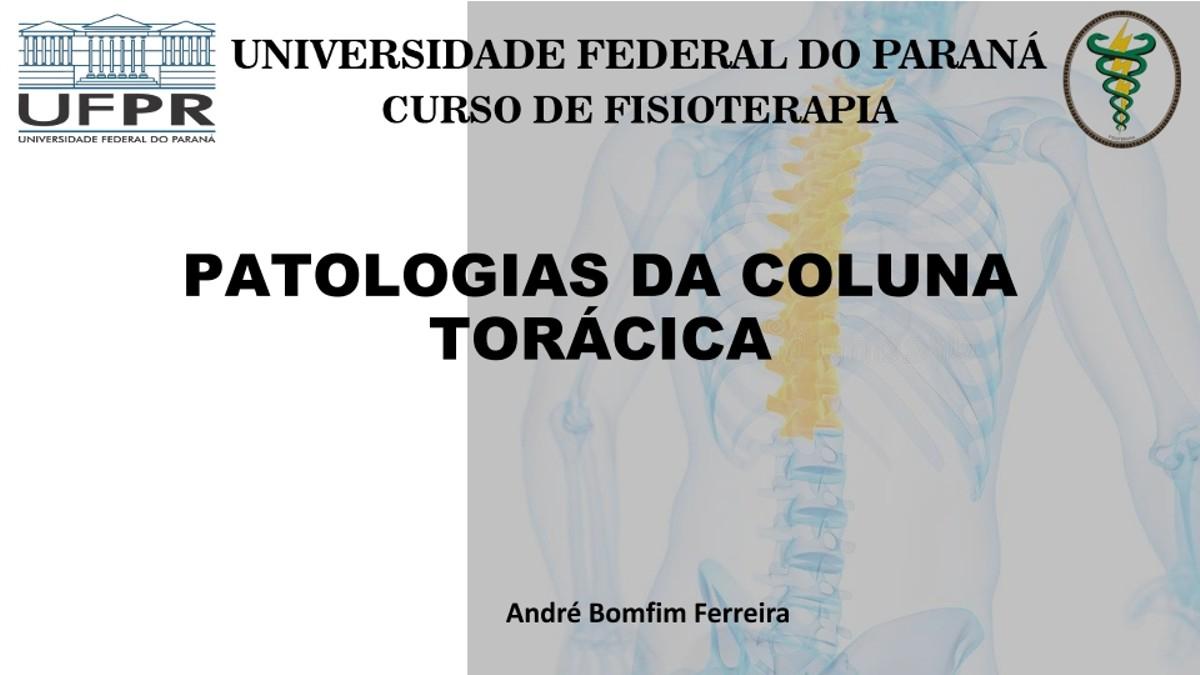 Pre-visualização do material Slide patologias da coluna Toracica - página 1